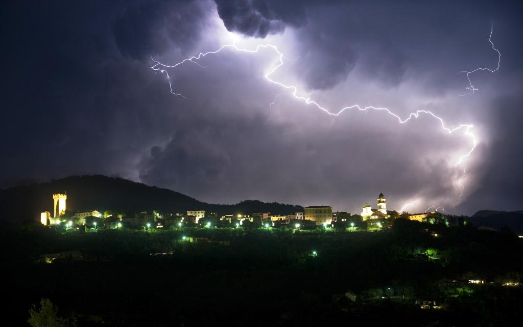 Il Centro Storico durante un temporale